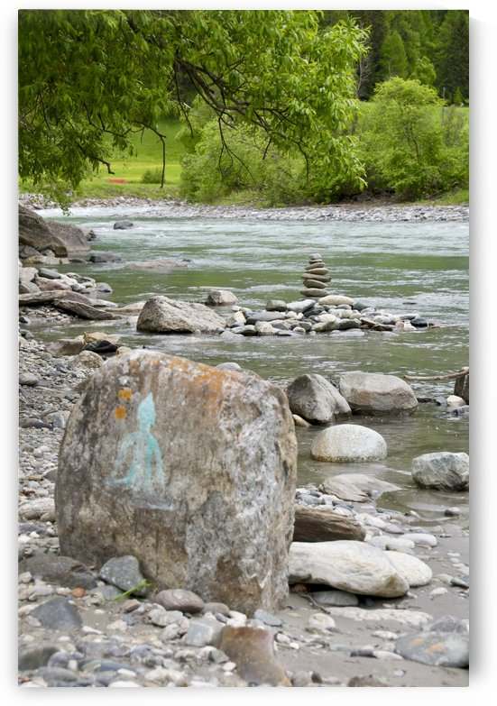 A Small Stream in Susch invites for Yoga Qi-Gong and other Mindful Moments I by Swiss Art by Patrick Kobler