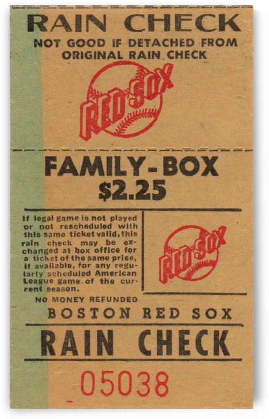 Red Sox Ticket Stub Art by Row One Brand