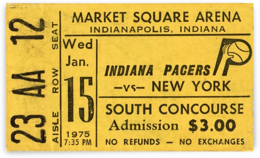 1975_American Basketball Association_New York Nets vs. Indiana Pacers_Market Square Arena_Row One by Row One Brand