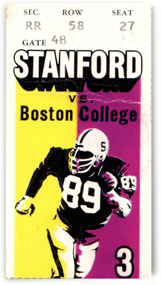 1979_College_Football_Boston College vs. Stanford_Palo Alto_Row One Brand College Art by Row One Brand