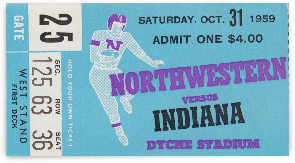 1959_College_Football_Northwestern vs. Indiana_Dyche Stadium_Row One Brand Tickets by Row One Brand