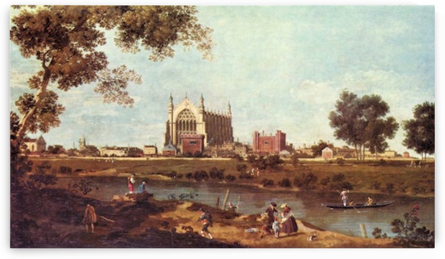 Eton College by Canaletto by Canaletto