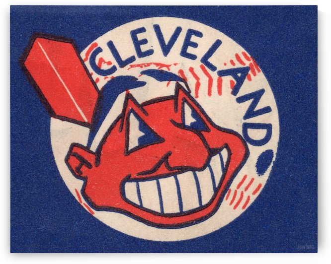 1951 Vintage Cleveland Indians Art by Row One Brand