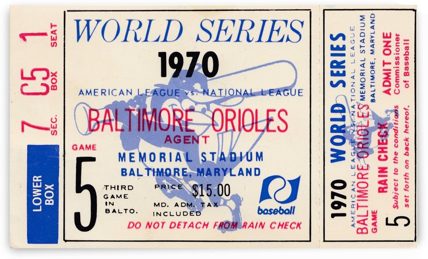 1970_Major League Baseball_World Series_Baltimore Orioles vs. Cincinnati Reds_Memorial Stadium_Row 1 by Row One Brand