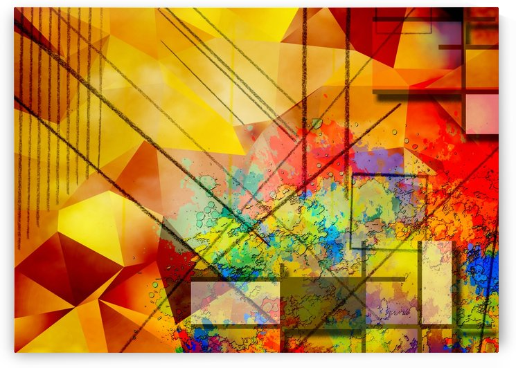 Modern Geometric Abstract by Bruce Rolff