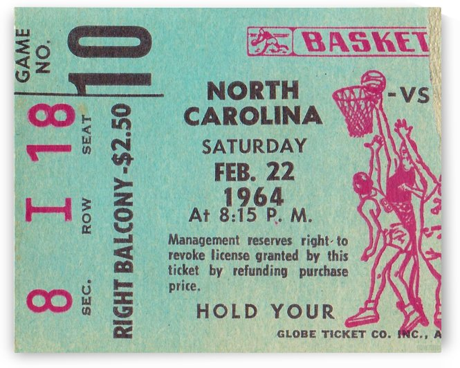 1964 College Basketball North Carolina vs. North Carolina State by Row One Brand
