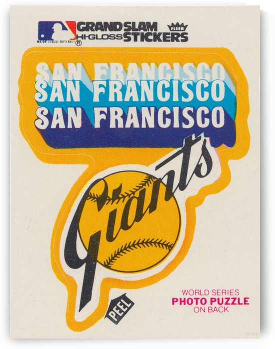 1978 san francisco giants untorn fleer decal reproduction row one brand vintage sports sticker by Row One Brand
