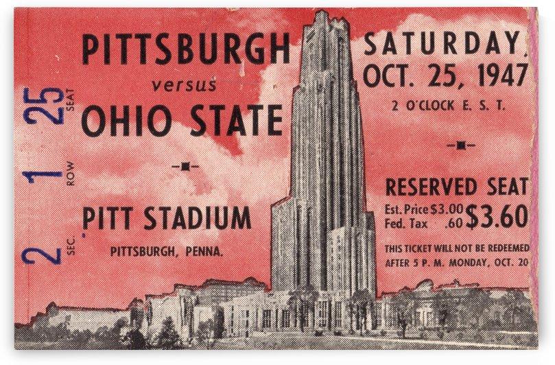 1947_College_Football_Ohio State vs. Pittsburgh_Pitt Stadium_Row One Brand Ticket Stub by Row One Brand