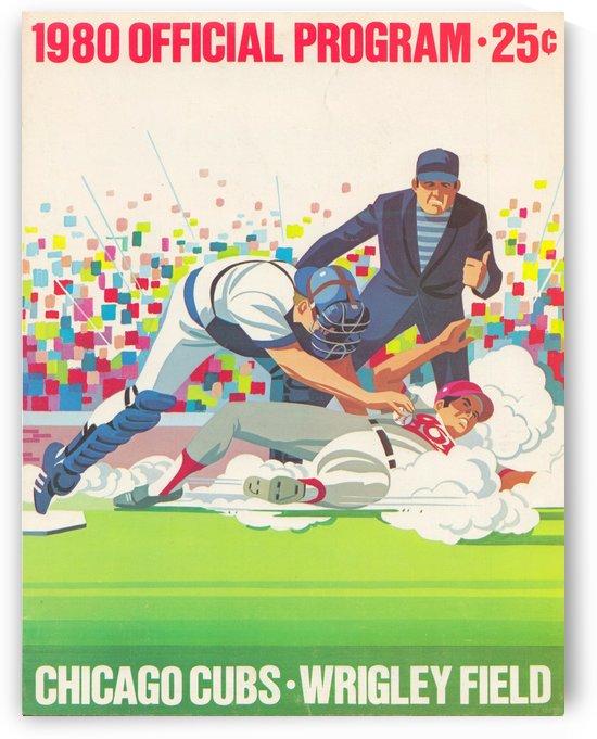 1980_Major League Baseball_Chicago Cubs_Program_Retro Art by Row One Brand