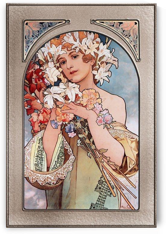 Flower by Alphonse Mucha Art Nouveau Vingtage Art by xzendor7