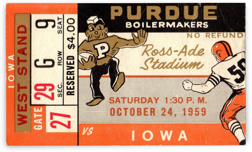 1959 Purdue vs. Iowa by Row One Brand