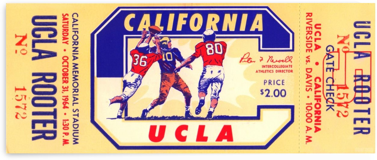 1964_College_Football_California vs. UCLA_California Memorial Stadium_Row One Brand Ticket Stub Art by Row One Brand