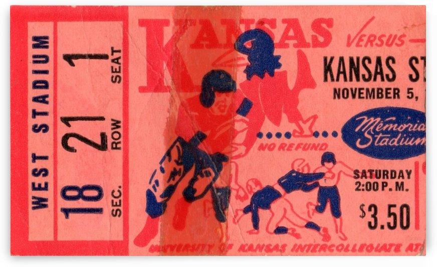 1955_College_Football_Kansas State vs. Kansas_Memorial Stadium_Lawrence_Row One Brand Ticket Art by Row One Brand