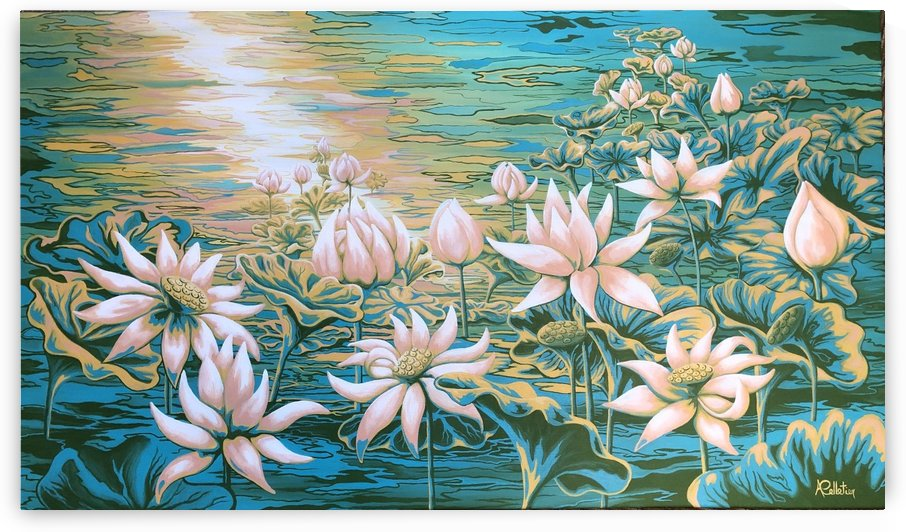 Pink lotus by Annie Pelletier