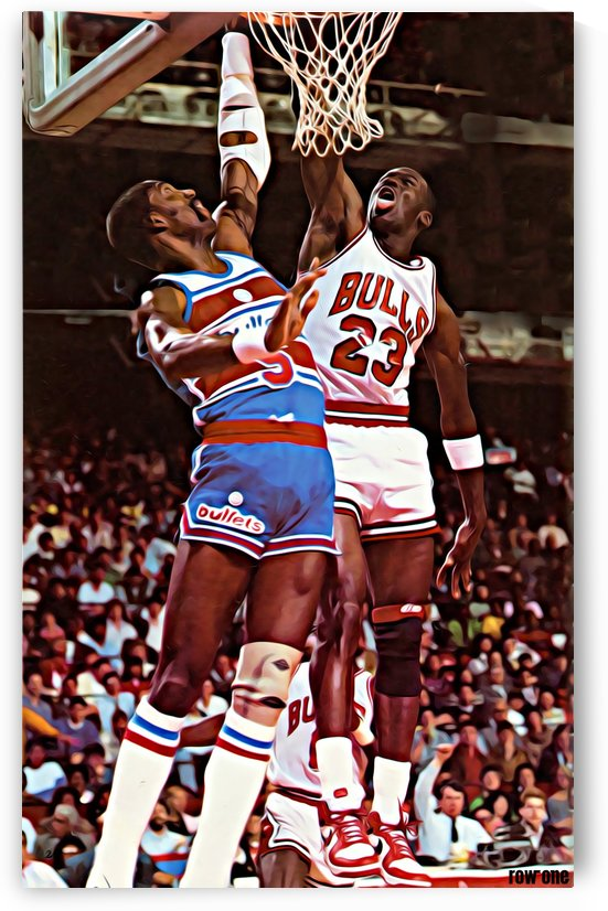 1985 Bulls vs. Bullets by Row One Brand