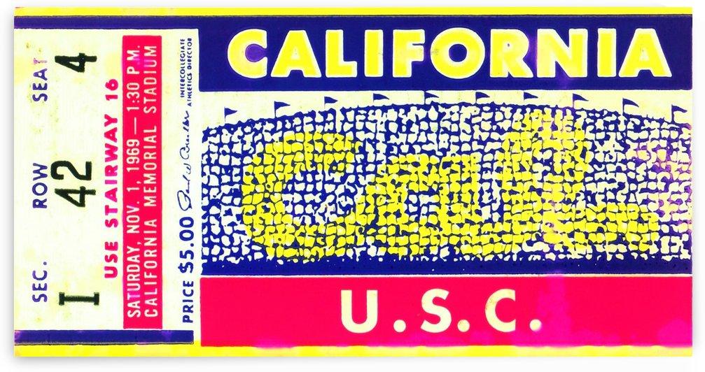 1969 Cal Bears Ticket Stub by Row One Brand