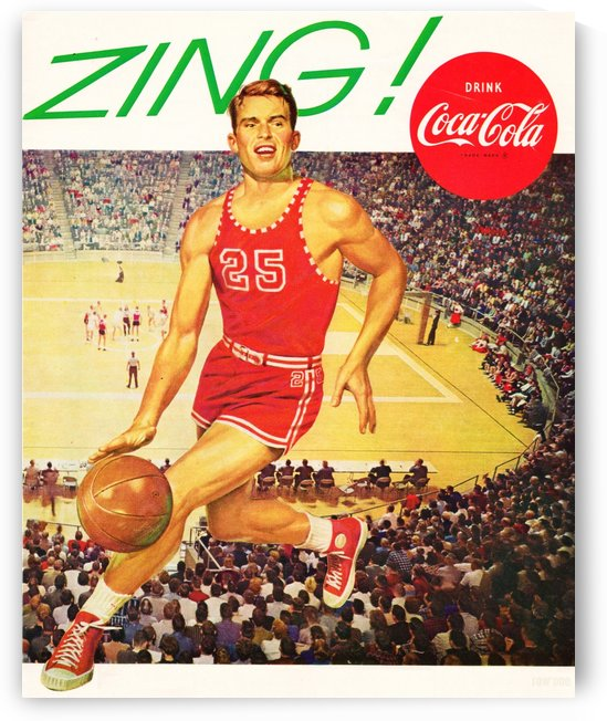 1962 Basketball Coke Ad by Row One Brand