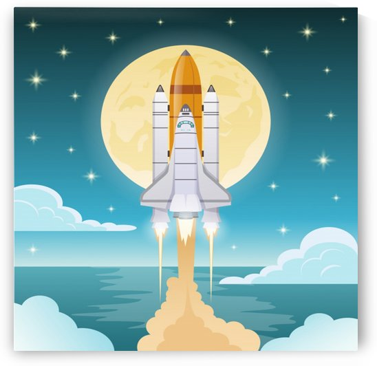 space exploration illustration_ by Shamudy