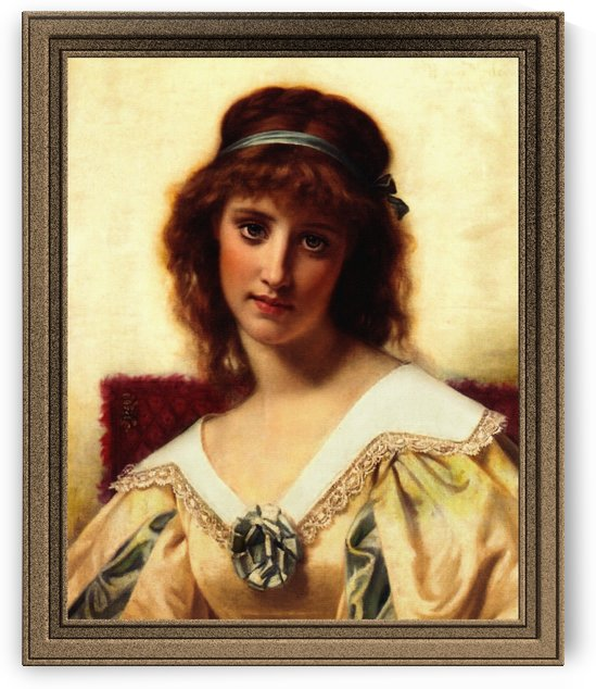Portrait Of A Young Beauty by Hugues Merle by xzendor7