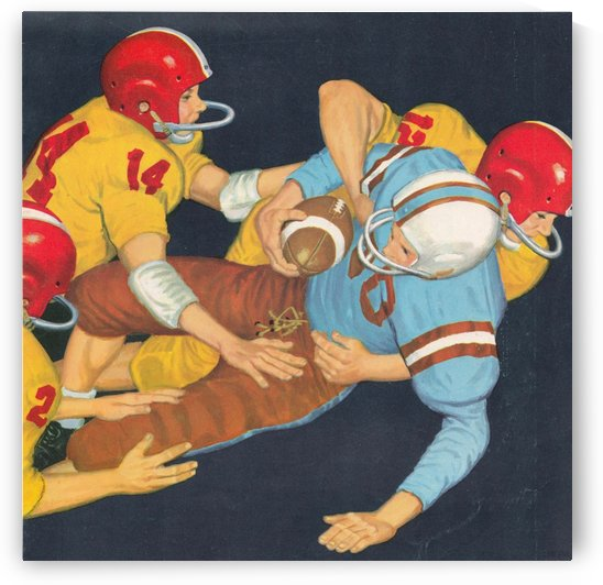 Classic Vintage Football Art  by Row One Brand