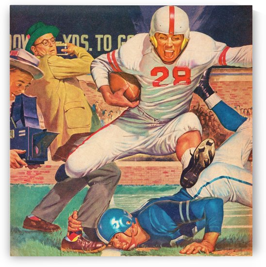 Vintage Football Art by Row One Brand