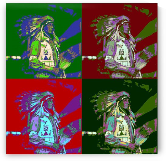 Indian Chief Pop Art 2 by Matthew Lacey