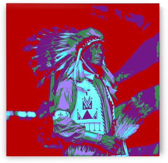 Indian Chief Pop Art by Matthew Lacey