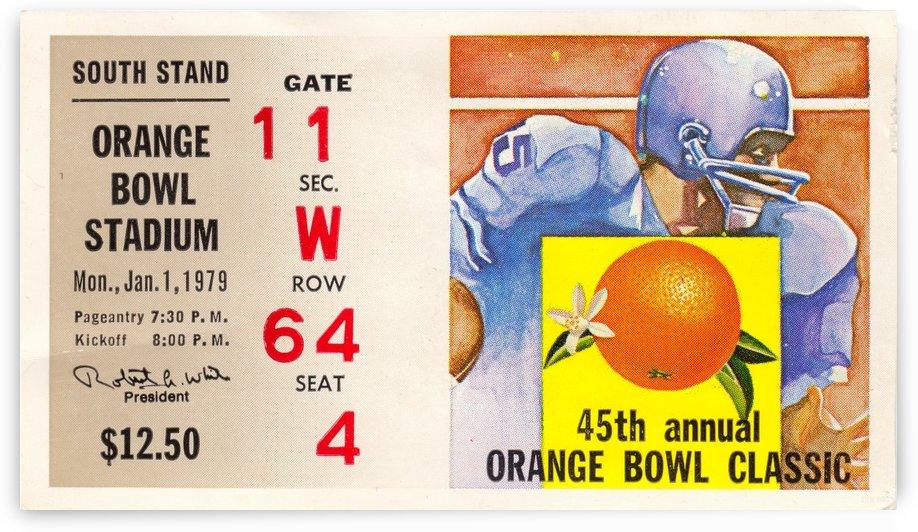 1979_College_Football_Orange Bowl_Nebraska vs. Oklahoma_Orange Bowl Stadium_Ticket Stub Collection by Row One Brand
