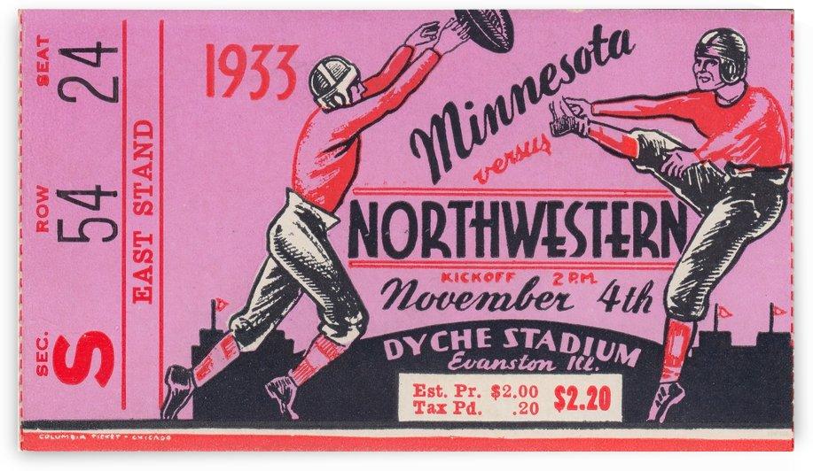 1933 Minnesota vs. Northwestern by Row One Brand