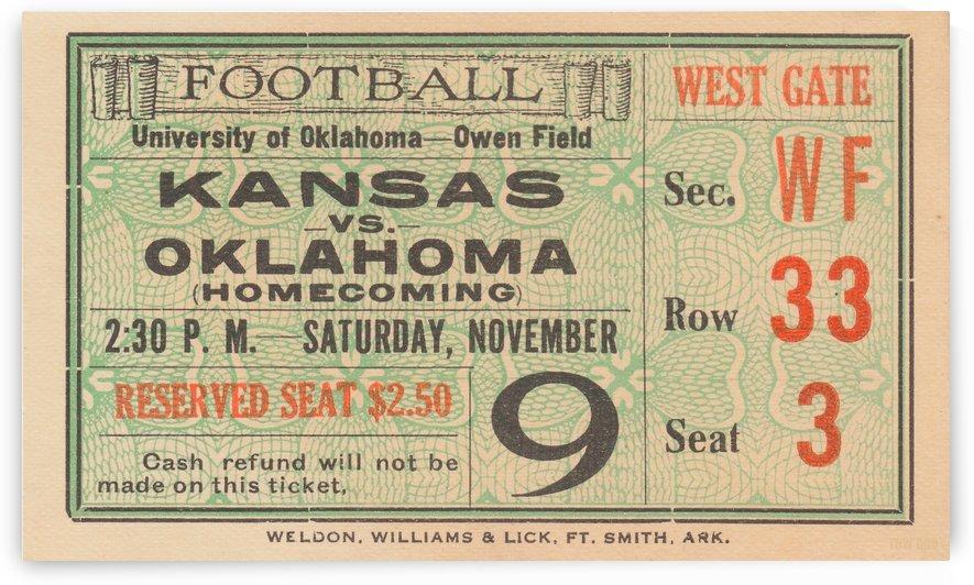 1929 Kansas vs. Oklahoma by Row One Brand