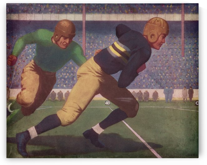 Best Vintage Football Art Prints_Sports Art Metal Prints by Row One Brand