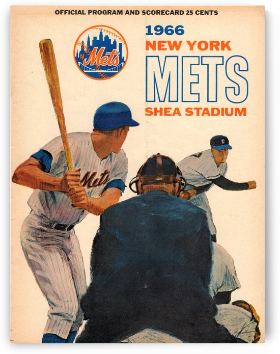 1966_Major League Baseball_New York Mets_Shea Stadium_Best Scorecard Collection by Row One Brand