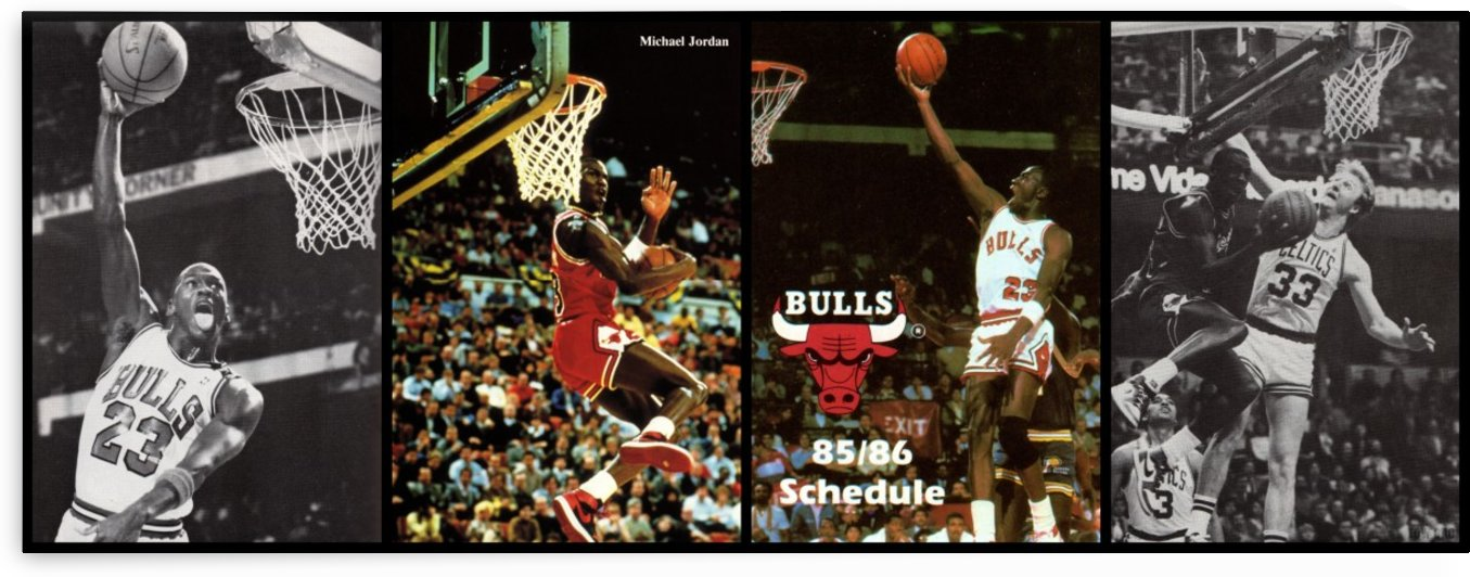 Michael Jordan Collage  by Row One Brand