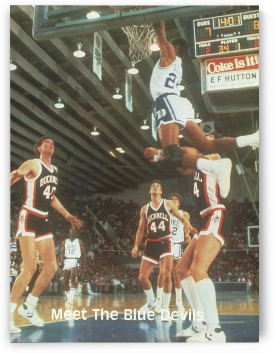1984 Duke University Basketball Poster _Meet the Blue Devils_ by Row One Brand