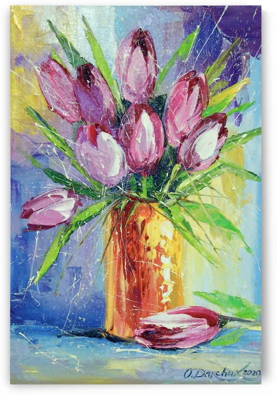 Bouquet of tulips by Olha Darchuk