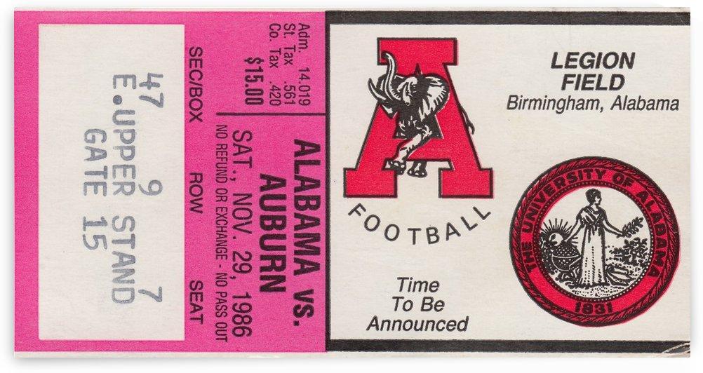 1986 College Football Alabama vs. Auburn by Row One Brand
