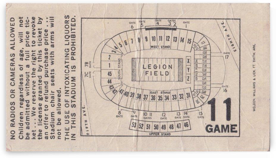 1981 Legion Field Map by Row One Brand