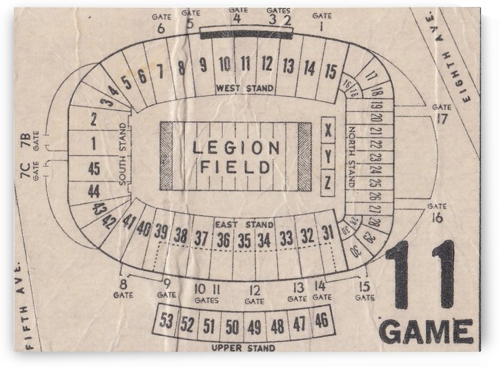 Legion Field Stadium Map Art by Row One Brand