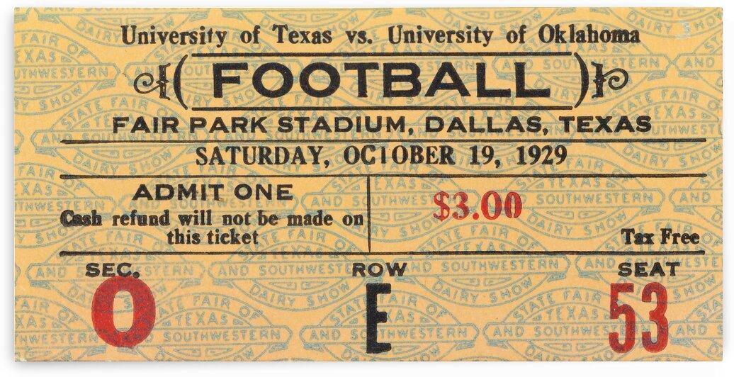 1929 Oklahoma vs. Texas by Row One Brand