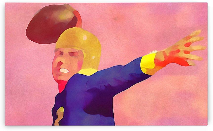 Quarterback Art_Vintage Football Artwork Prints_Row One Abstract Sports Art by Row One Brand