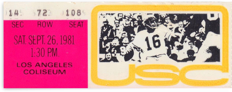 USC Trojans Football Ticket Stub Art Reproduction Print by Row One Brand