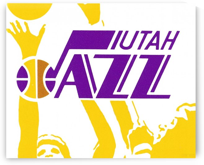Utah Jazz Vintage Basketball Art Reproduction (1981) by Row One Brand