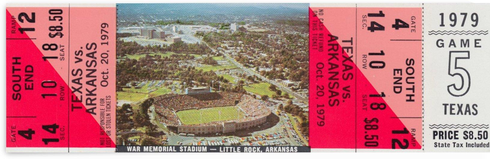 1979 Arkansas vs. Texas Football Ticket Canvas by Row One Brand