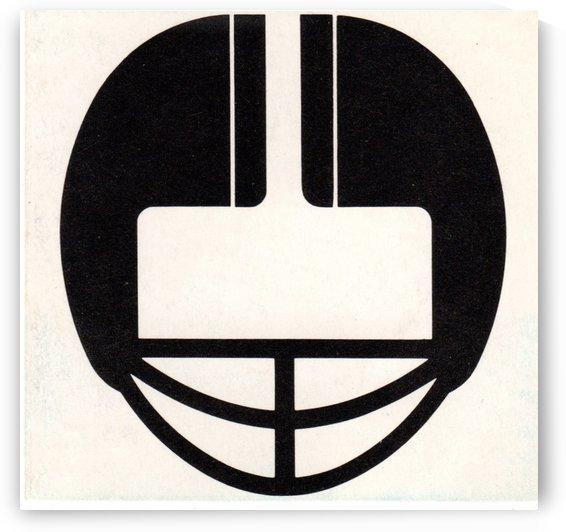 Football Helmet Art 1977 by Row One Brand