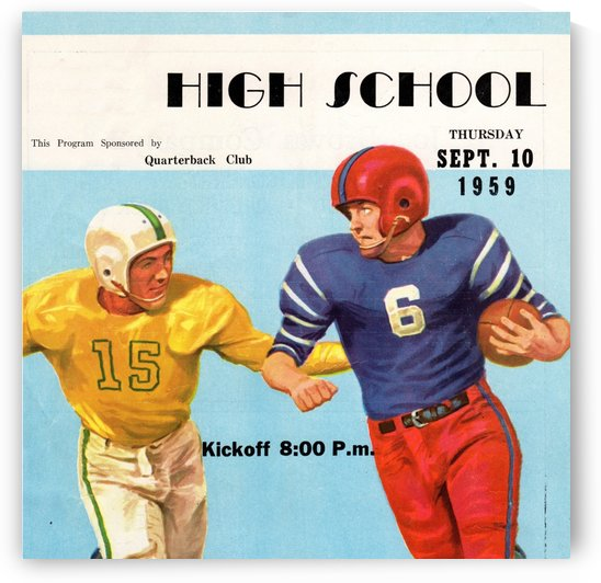 1959 High School Football by Row One Brand
