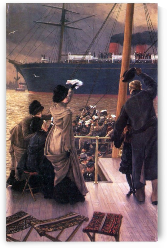 Farewell to the Mersey by Tissot by Tissot