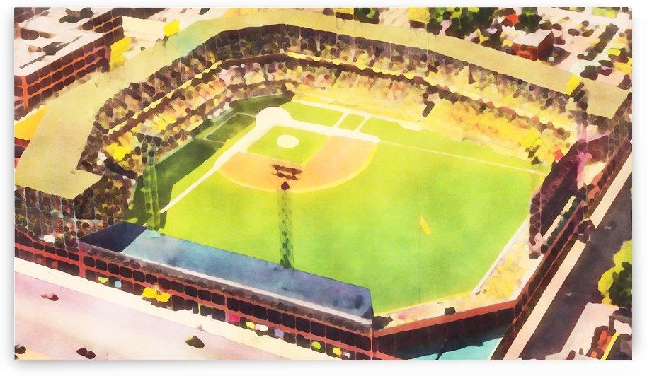 Sunny Day at the Ballpark Vintage Baseball Ballpark Art Print by Row One Brand