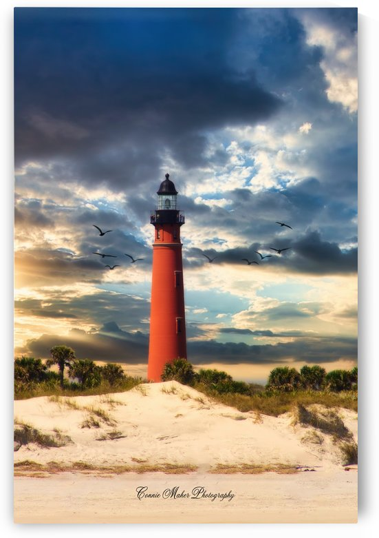 Sunset at Ponce Inlet by Connie Maher