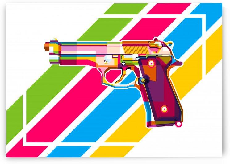 Baretta 92 Handgun by wpaprint