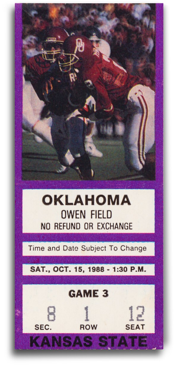 1988 Oklahoma Sooners vs. Kansas State by Row One Brand